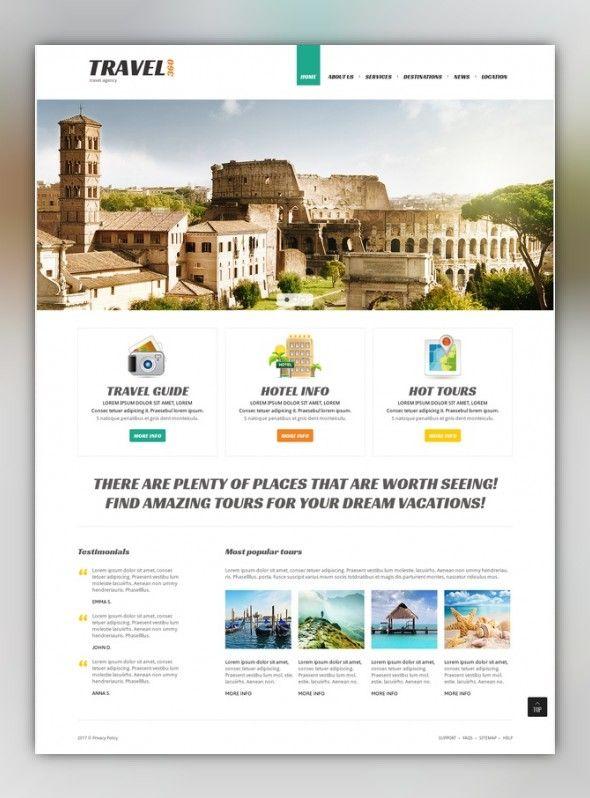 Proper Travel Joomla Template | Web Design | Pinterest | Template