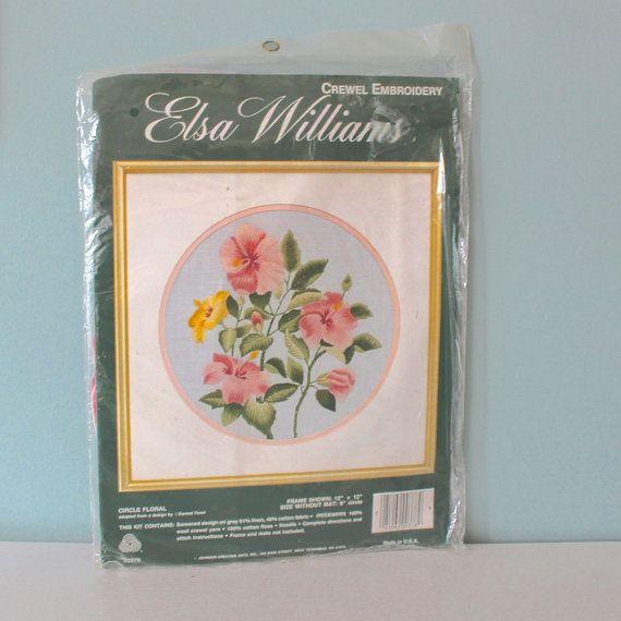 Elsa Williams Crewel Embroidery Kit Flower Embroidery Kit Vintage