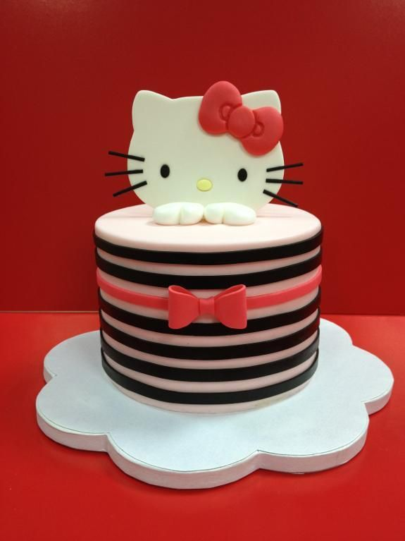 Clean Simple Cake Design Online Class In 2019 Hello Kittiy