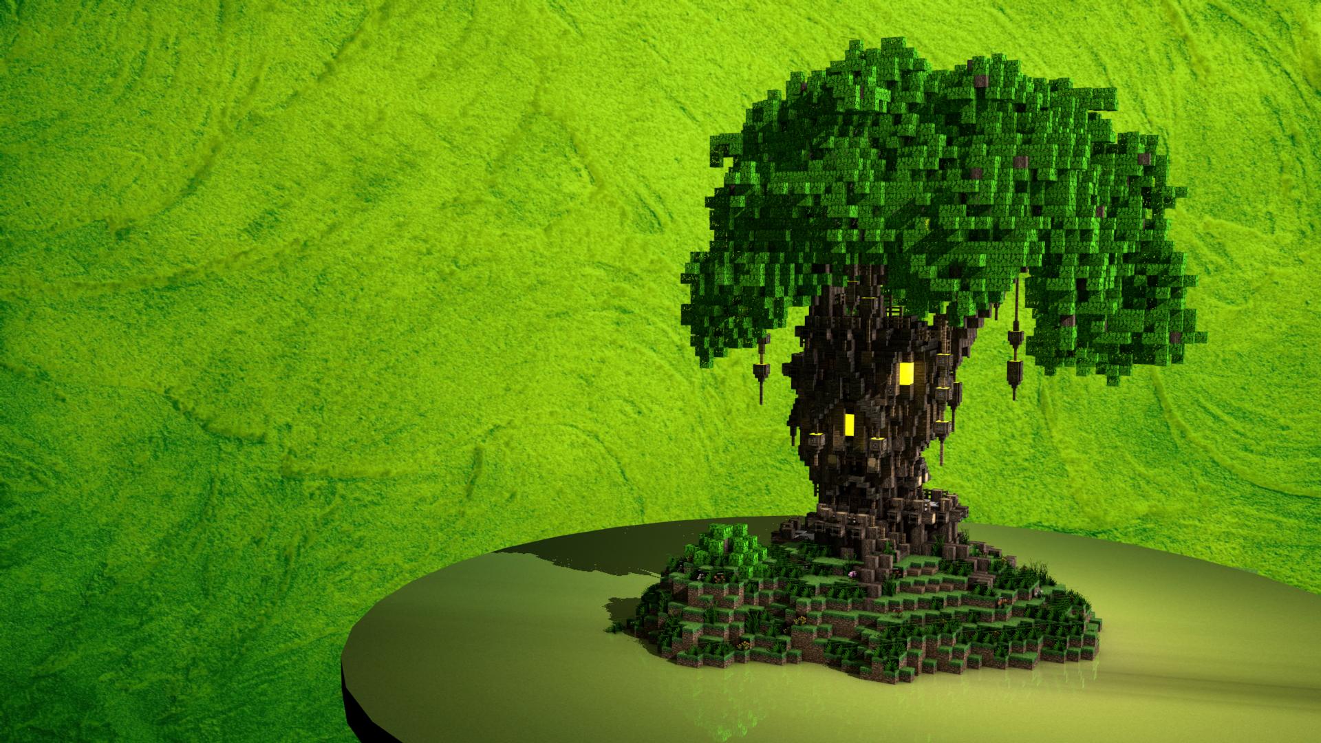 The Old Oak Survival Tree House Minecraft Project Tree House Minecraft Blueprints Minecraft