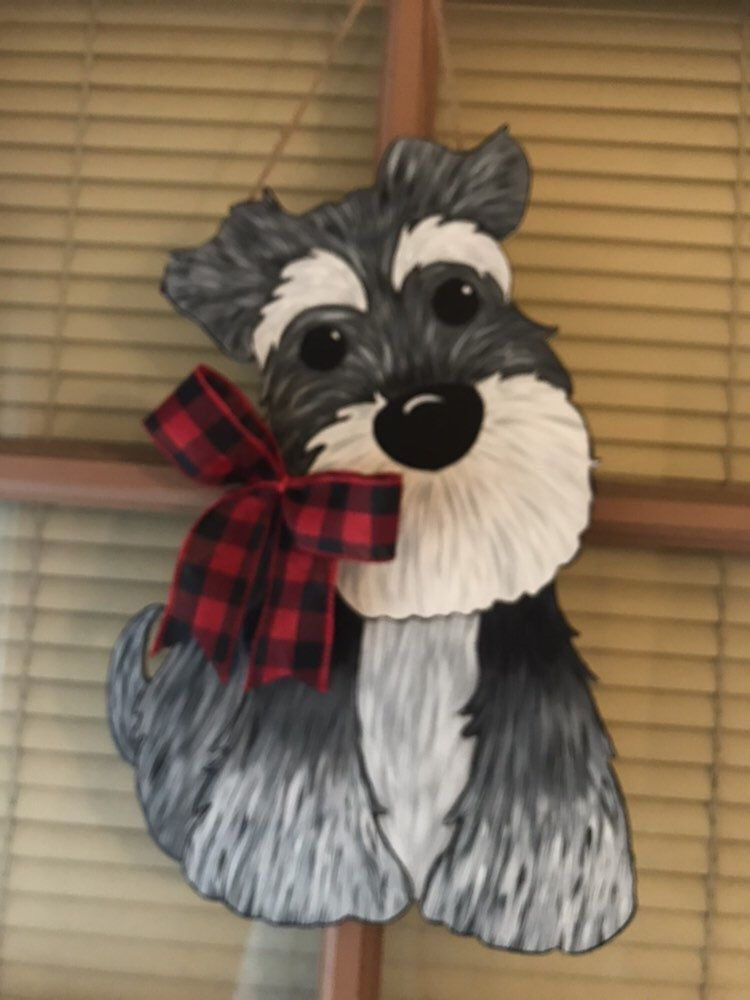 Wooden clothes rack Schnauzer Coat Peg Personalised gift.