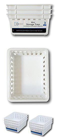 Bin Storage Trays White 6pk By Mainstay