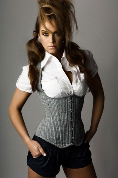 5a3593012f Perfect grey under bust corset