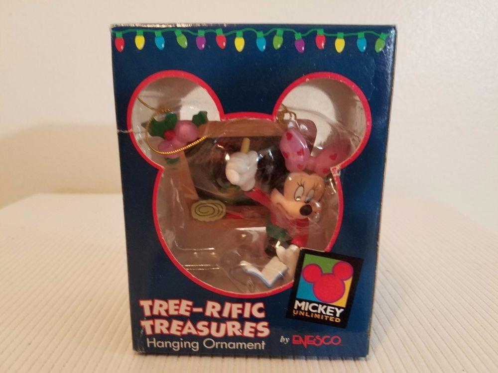 Disney Mini Mouse with Chalk Board Tree-rific Treasures Hanging Ornament Enesco #Enesco