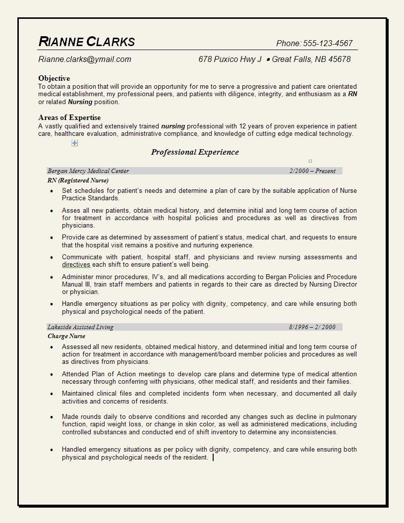 professional nursing resume template new professional