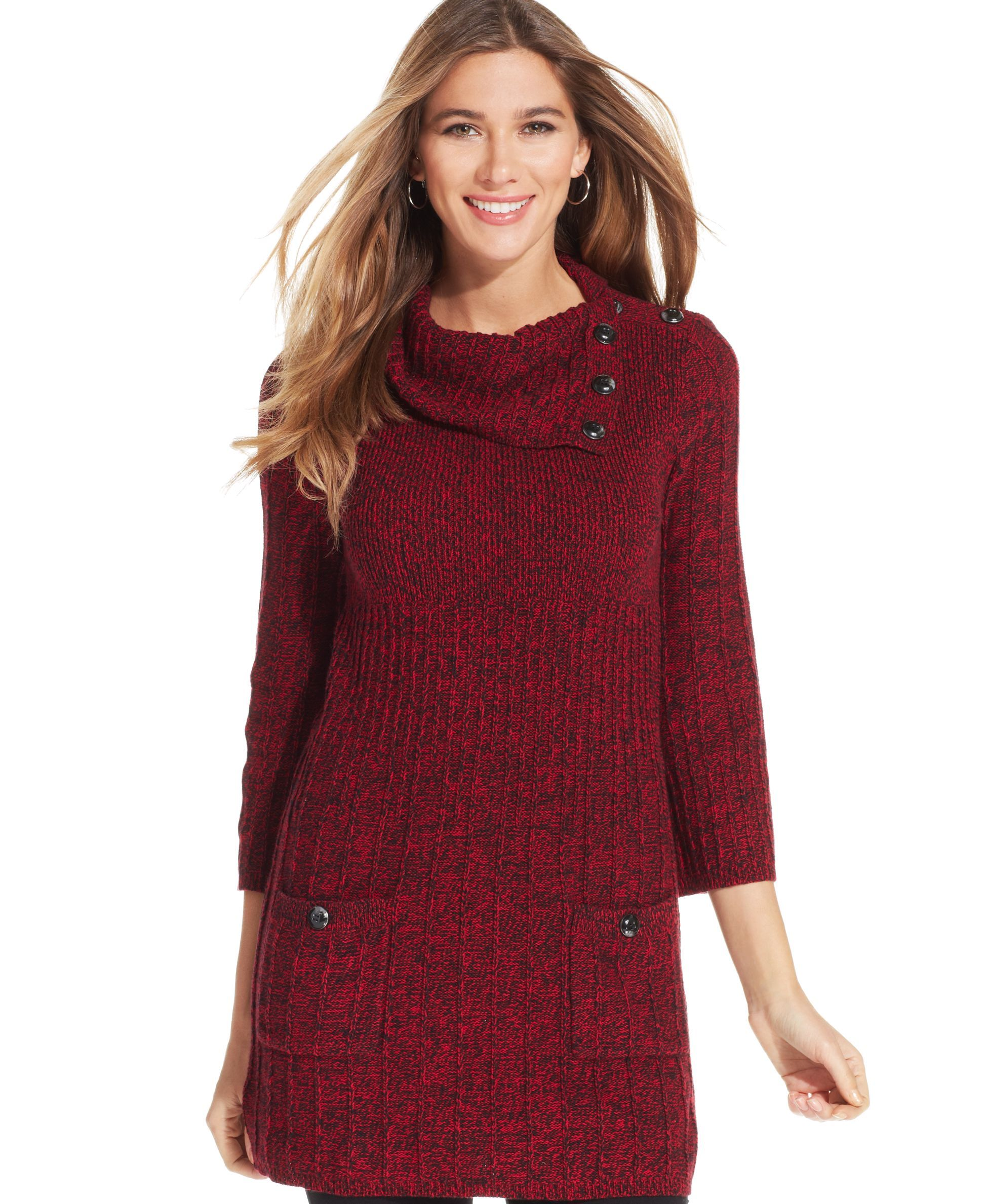 Style&co. Petite Marled Ribbed-Knit Sweater Tunic | haine ...