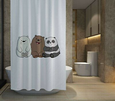 HOT SALE We Bare Bears Shower Curtain size 60x72  72x72 Free Shipping