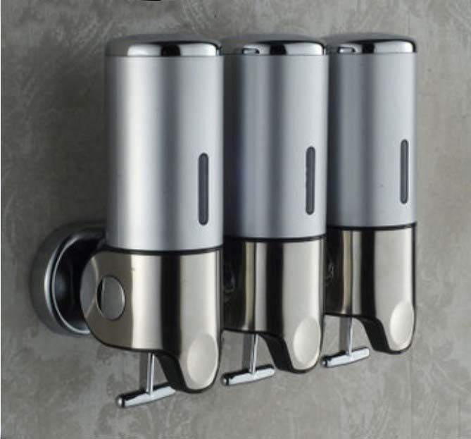 Shower Soap Dispenser Wall Mount Brushed Nickel Shower Soap Shampoo Conditioner