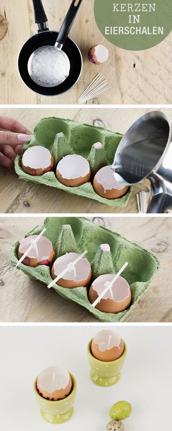 diy anleitung kerzen aus eierschalen basteln via pinterest diy anleitungen. Black Bedroom Furniture Sets. Home Design Ideas