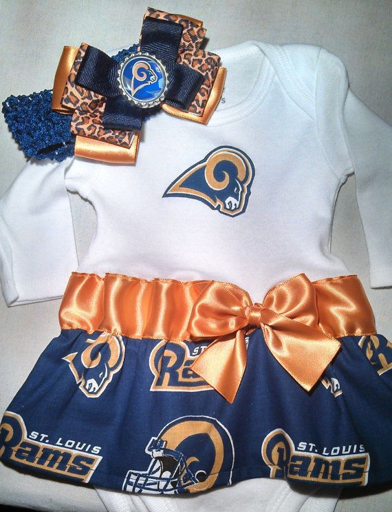 62d46be6 Los Angeles Rams inspired baby girl outfit | Treasures for Mia | La ...