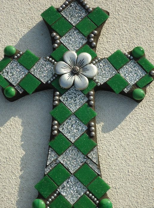Mosaic Cross - New Life. $225.00, via Etsy.