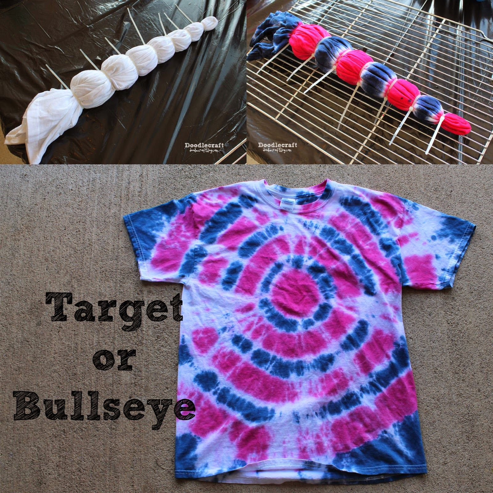Tulip Tie Dye T Shirt Party Target Or Bulls Eye Pattern