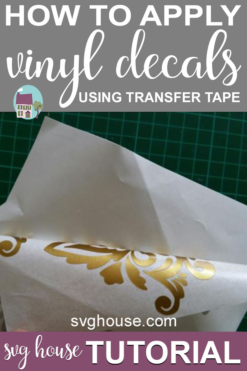 How To Apply Vinyl Decals With Paper Transfer Tape Vinyl Decals Transfer Tape How To Apply