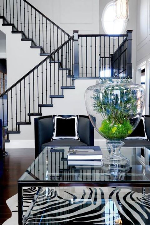 Living Room Decorating Ideas Black And White Stairs Contemporary Living Room Home #stairs #in #living #room #ideas
