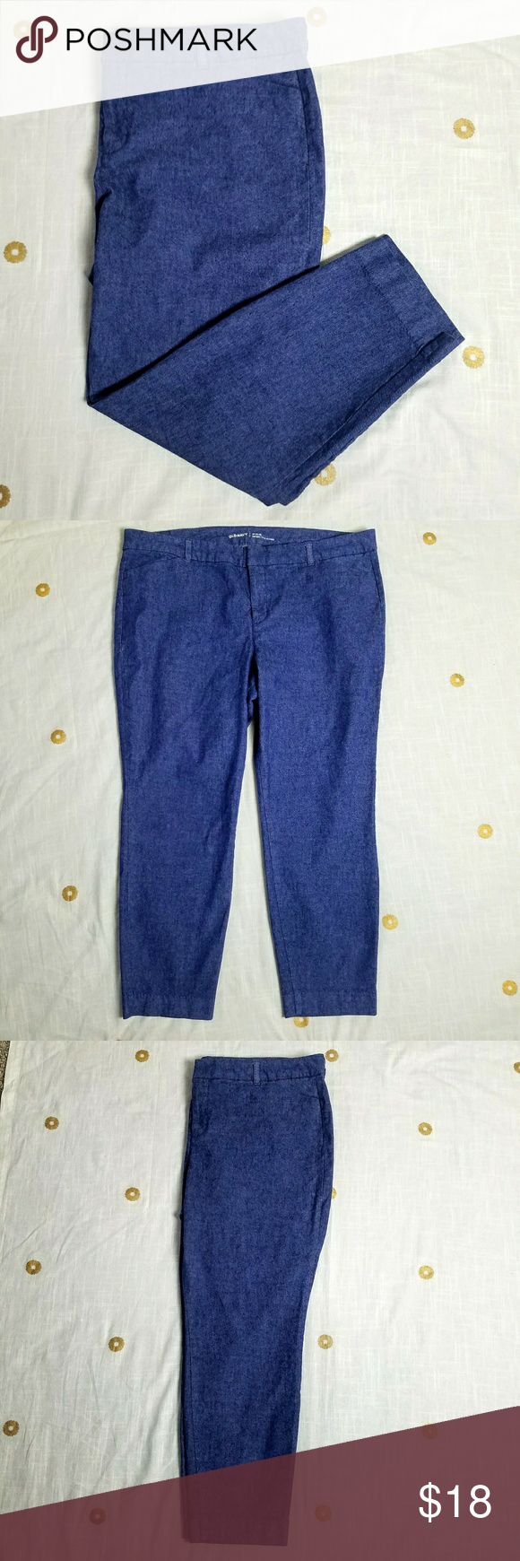 a08dfa07b37e7 Plus Size Old Navy Pixie Mid-Rise Linen Blend Pant Old Navy Pixie Mid-