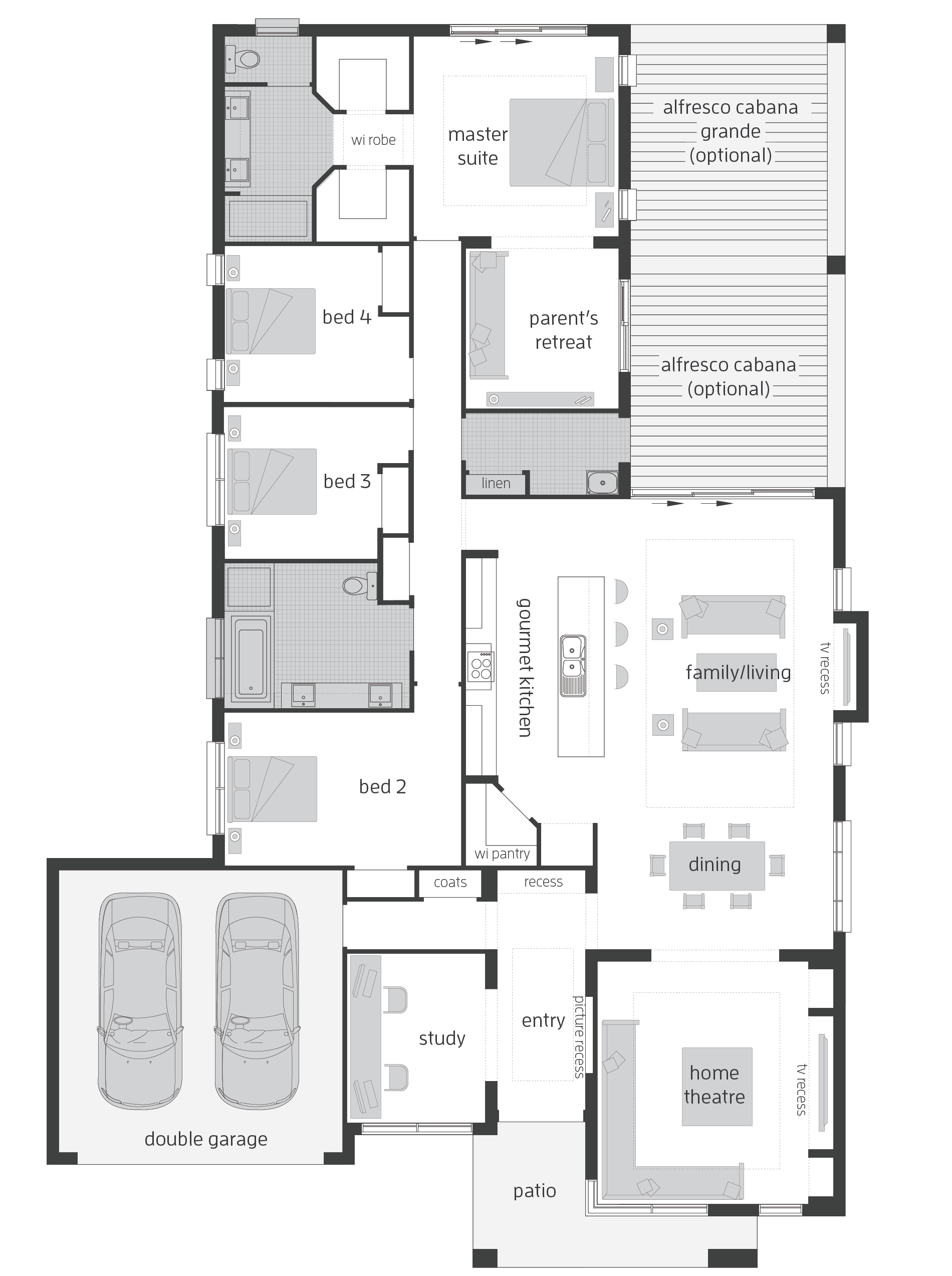Monte Carlo Floorplans Australian House Plans House Plans Farmhouse House Plans