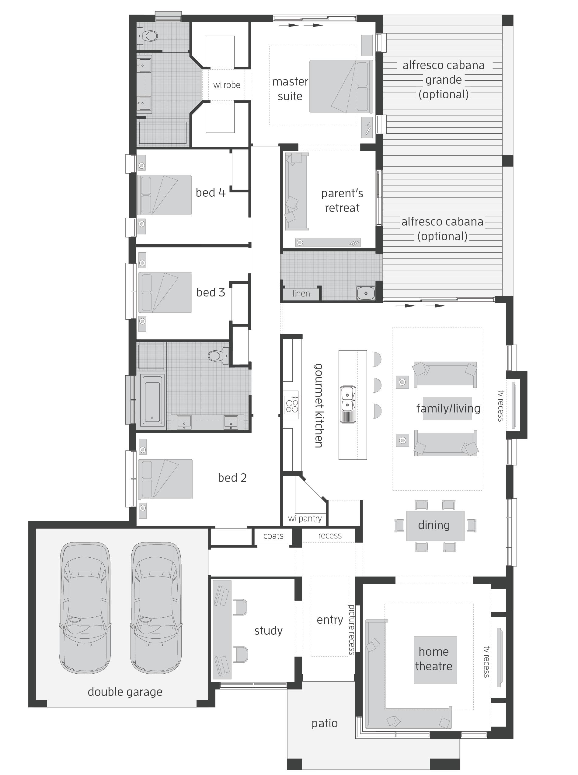 Monte Carlo Executive Elite - with parent\'s retreat - floor plan ...
