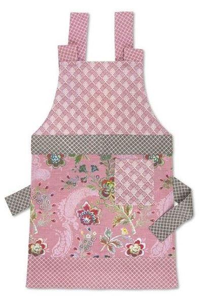 Pip Studio Keukenschort.Show Details For Floral Apron Pink Schorten Pip Studio