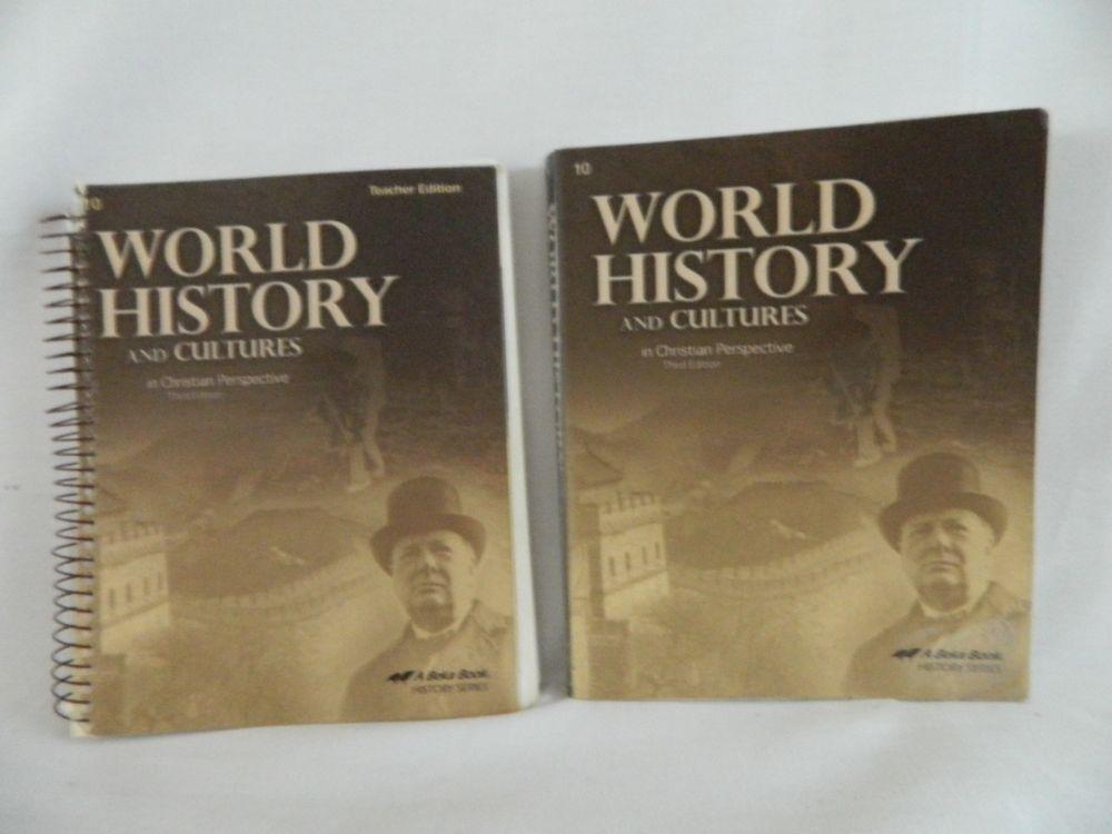 Abeka World History And Cultures Student Teacher Homeschool