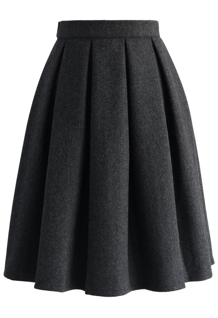4f9f86297 Wool-blend Pleated Twill Skirt - New Arrivals - Retro, Indie and Unique  Fashion