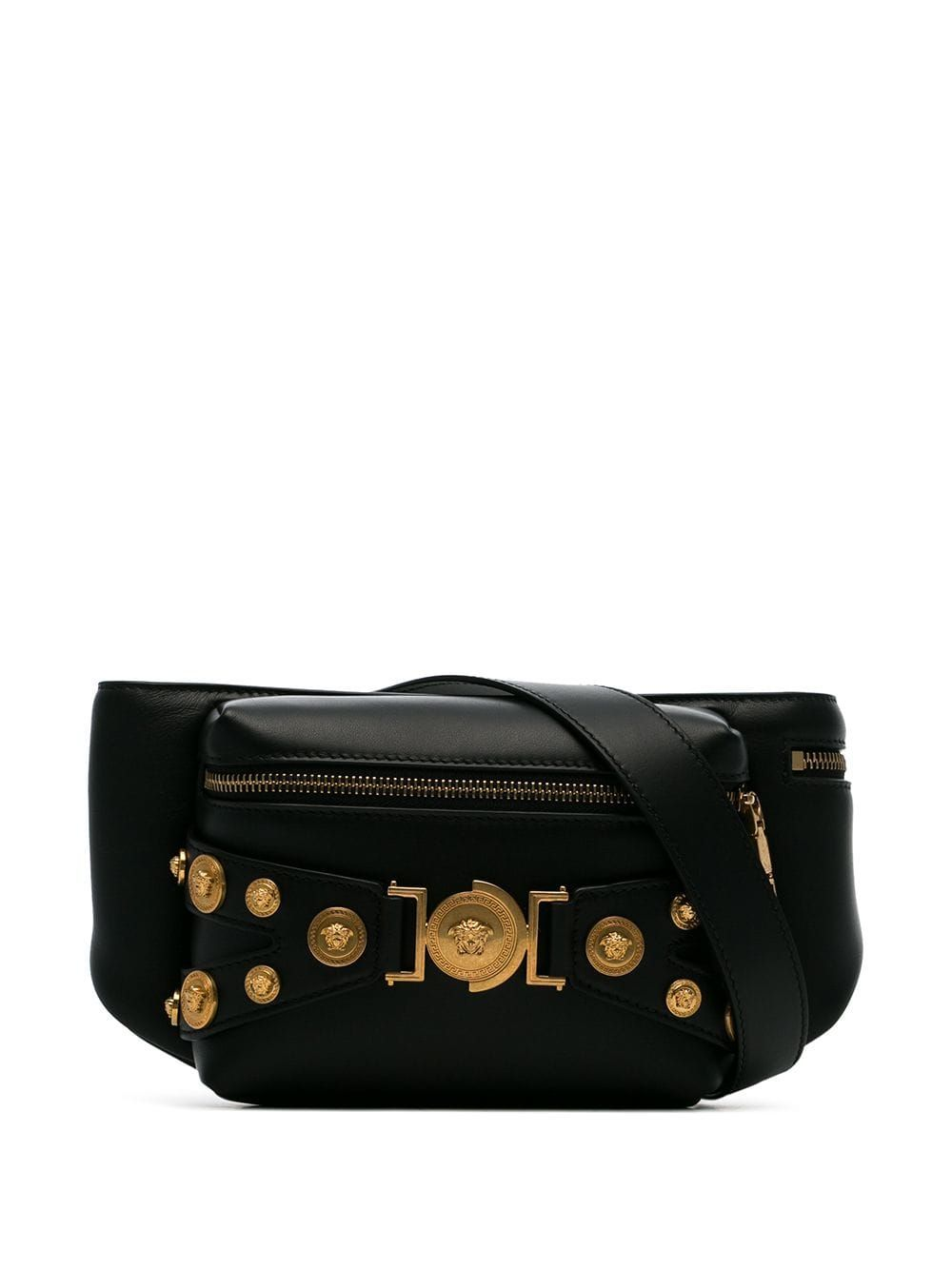 a8025f27d404 VERSACE VERSACE TRIBUTE CROSSBODY BELT BAG - BLACK.  versace  bags  leather   belt bags