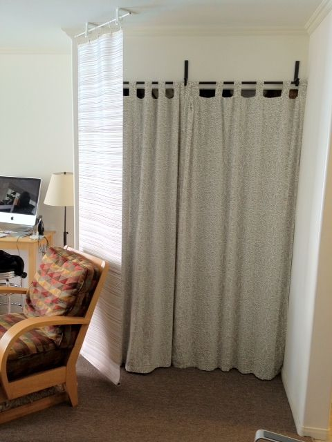 Curtain Panel Bluff And Room Divider Fabric Room Dividers Metal