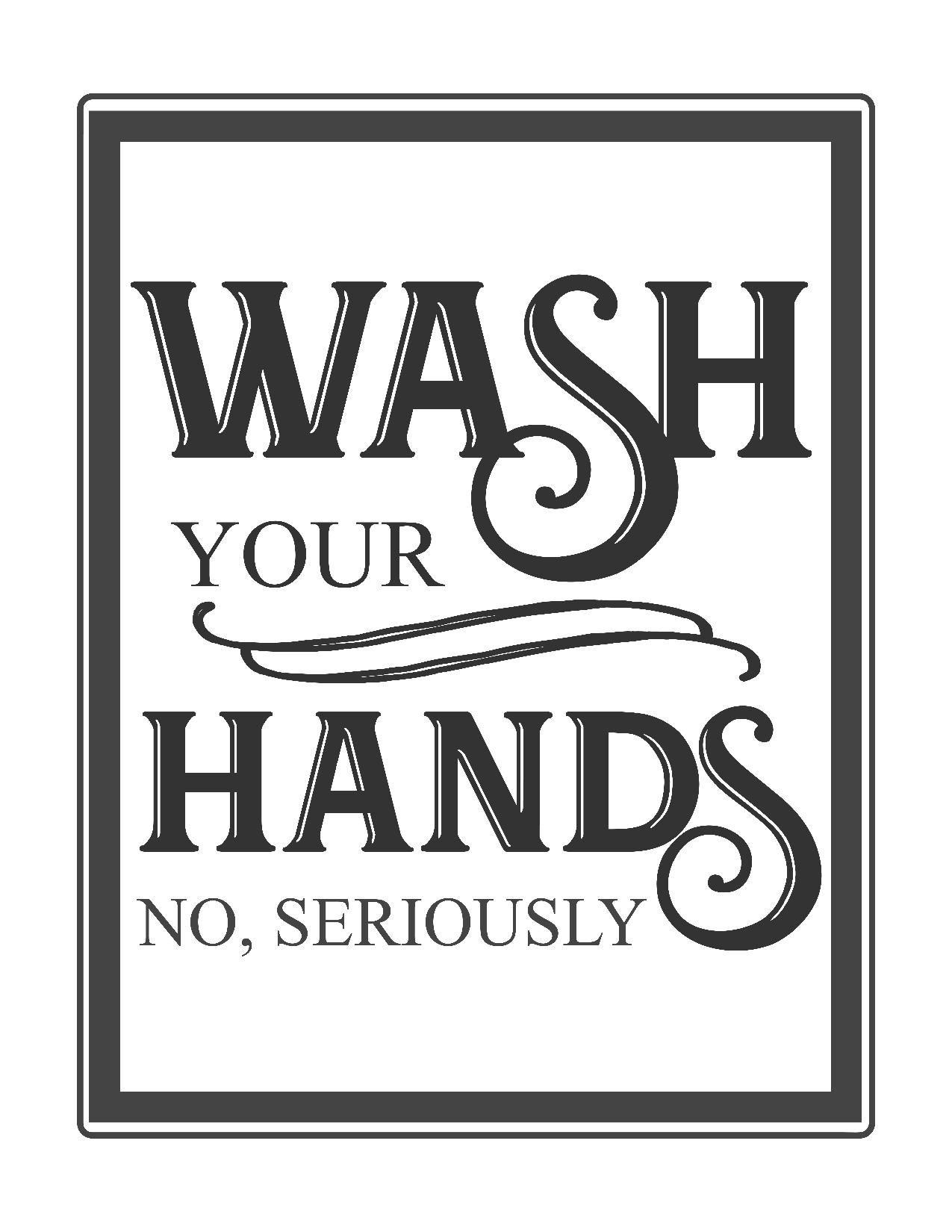 Bathroom Signs Wash Hands free vintage bathroom printables | bathroom printable, vintage