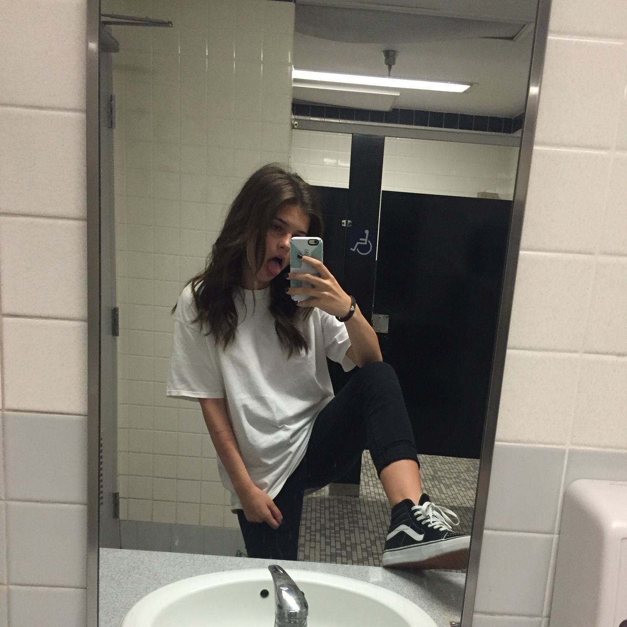 Girls shoes satll toilet