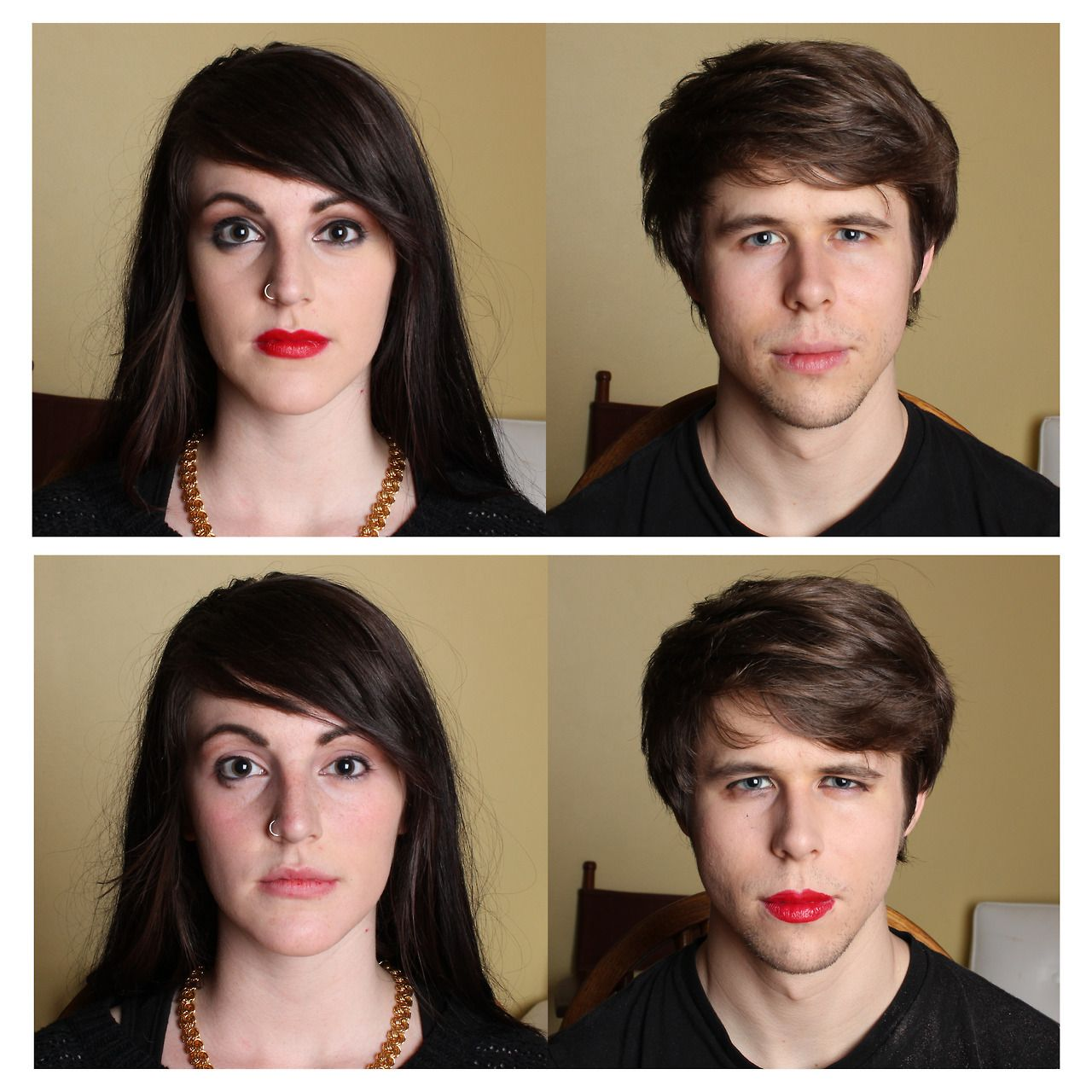 Couples Swap Makeup Routines For Powerful Art Project -6712