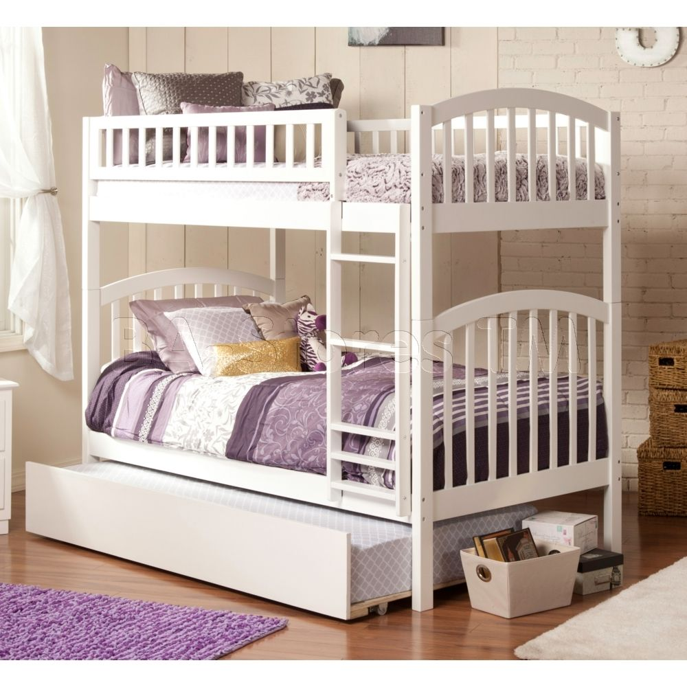 Twin Over Twin Bunk Bed Designer Trundle Bed In 2018 Pinterest