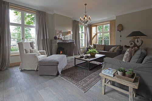 18e eeuws verouderd eiken in woonkamer livingroom pinterest living rooms modern country for Deco woonkamer moderne woonkamer