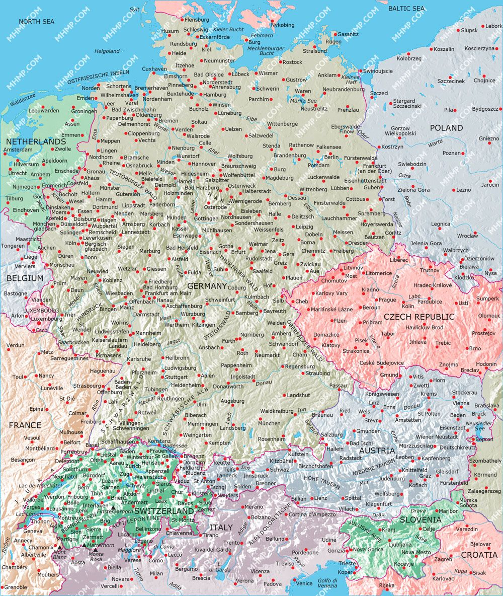 Image result for map switzerland germany austria | Destinations ...