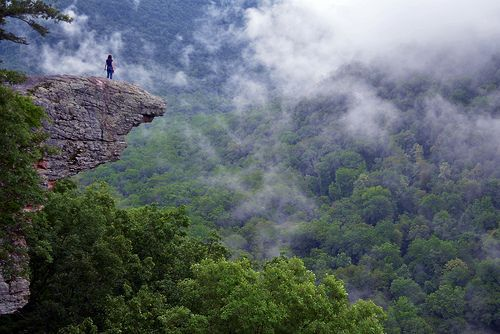 Up In The Clouds on Hawksbill Crag / Whitaker Point in the Ozark Mountains, Arkansas by Jeka World Photography, via Flickr