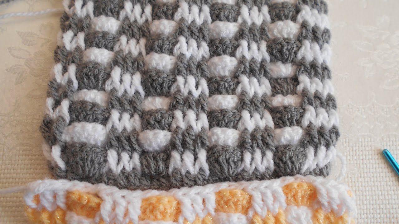 Punto fantasía en crochet fácil y rápido | Vzory na háčkování ...