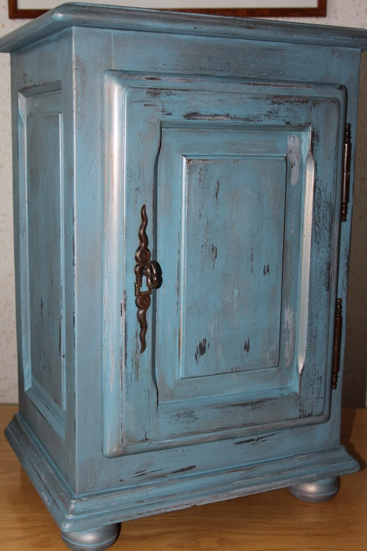 Meuble Bleu Patin House Maison Pinterest Meubles Bleu Et  # Effet Ceruse Blanc