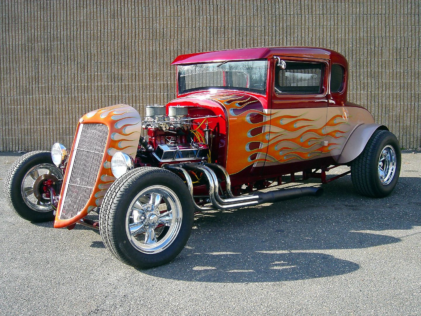 Old School Hot Rod Art | 1929 Ford Model A hot rod coupe fvl 0001 ...