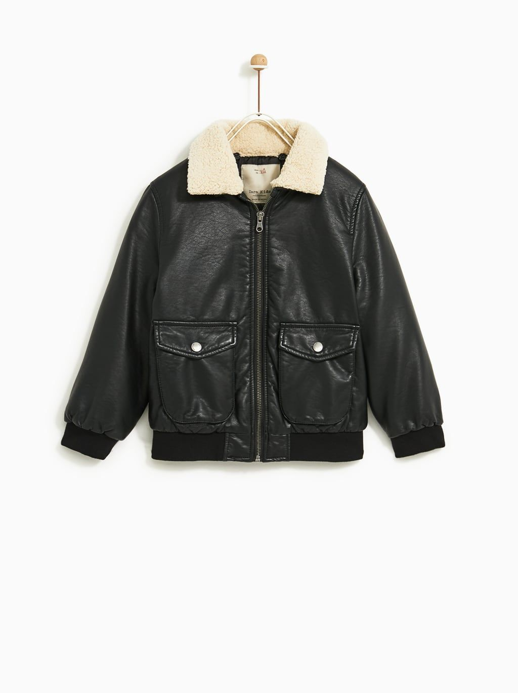 9856db51 Image 1 of FAUX LEATHER JACKET from Zara | Online Shopping | Leather ...