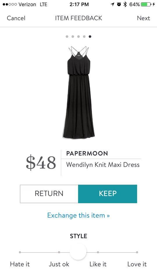 Stitch Fix Papermoon Wendilyn Knit Maxi Dress---cute!!