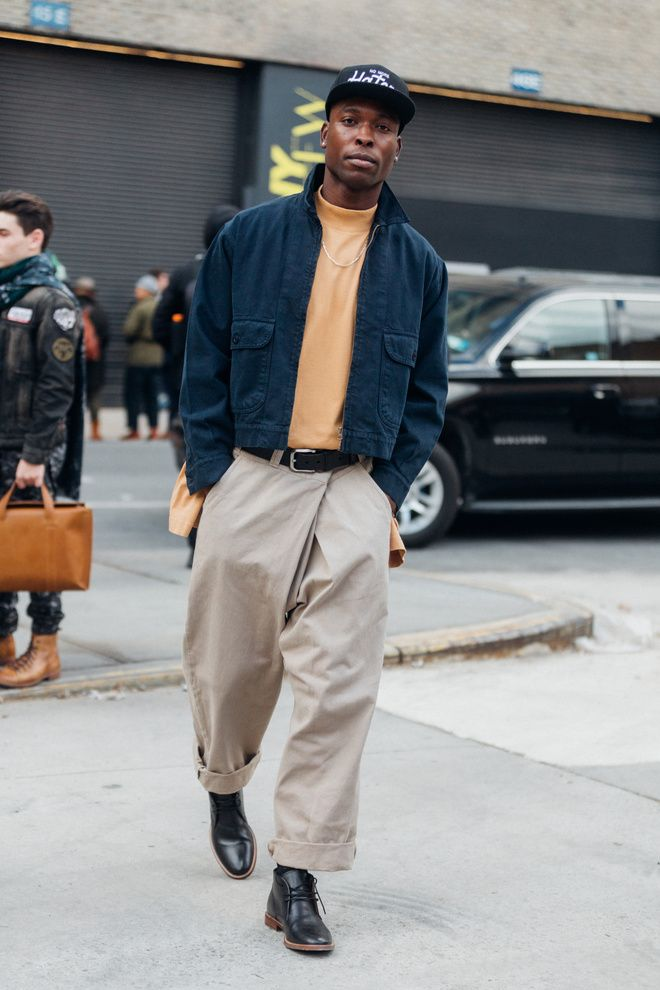 Street style Fashion Week homme automne hiver 2017 2018 New York 70
