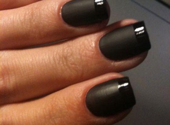 Flat Black Nail Polish Photos Toessss Pinterest Nails