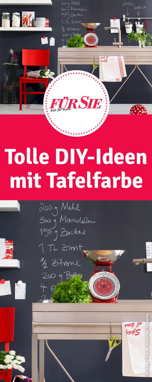Zwei einfache diy ideen mit tafelfarbe diy selbermachen basteln tafelfarbe und farben - Ideen mit tafelfarbe ...