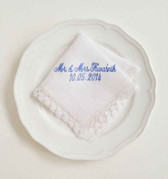 custom embroidered monogrammed lace bridal by SaraCaccessories, $36.00