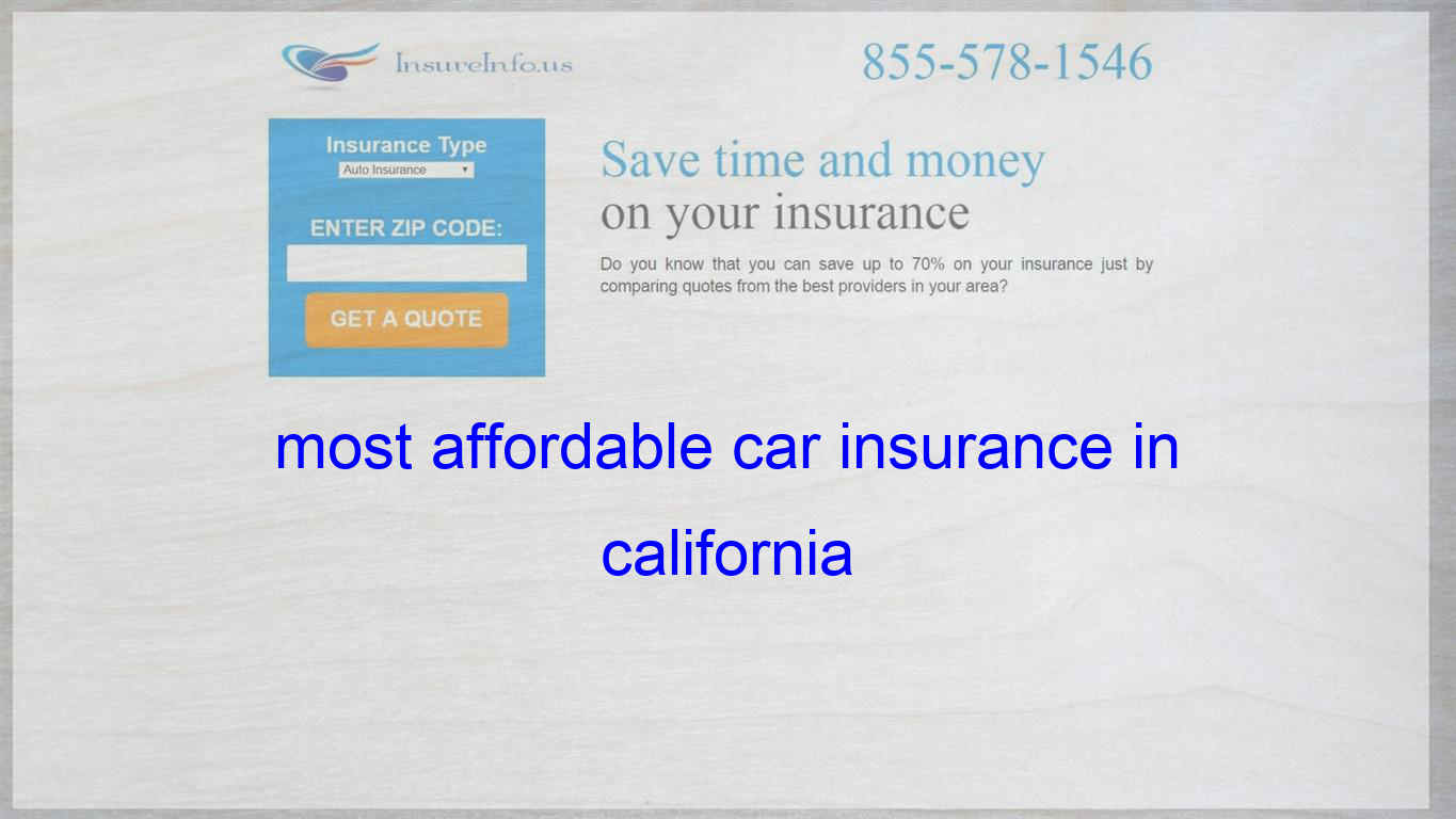 Most Affordable Car Insurance In California With Images