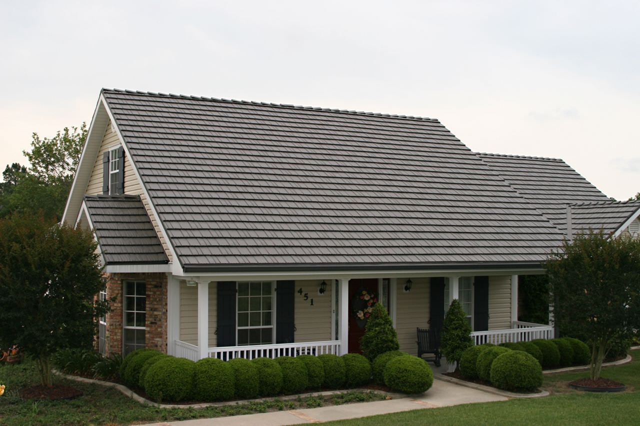 Rustic Metal Shingle Classic Metal Roofing Systems Metal Roofing Prices Metal Roof Houses Residential Metal Roofing