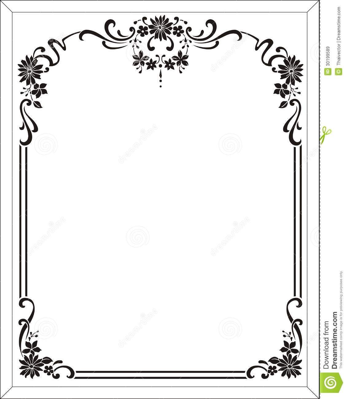picture frame stencils | Royalty Free Stock Images: Flower frame ...