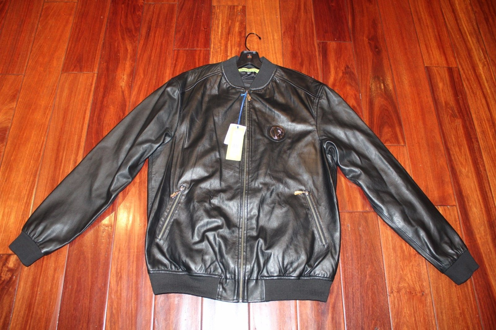 449.99 100 Authentic Men Versace Leather Bomber