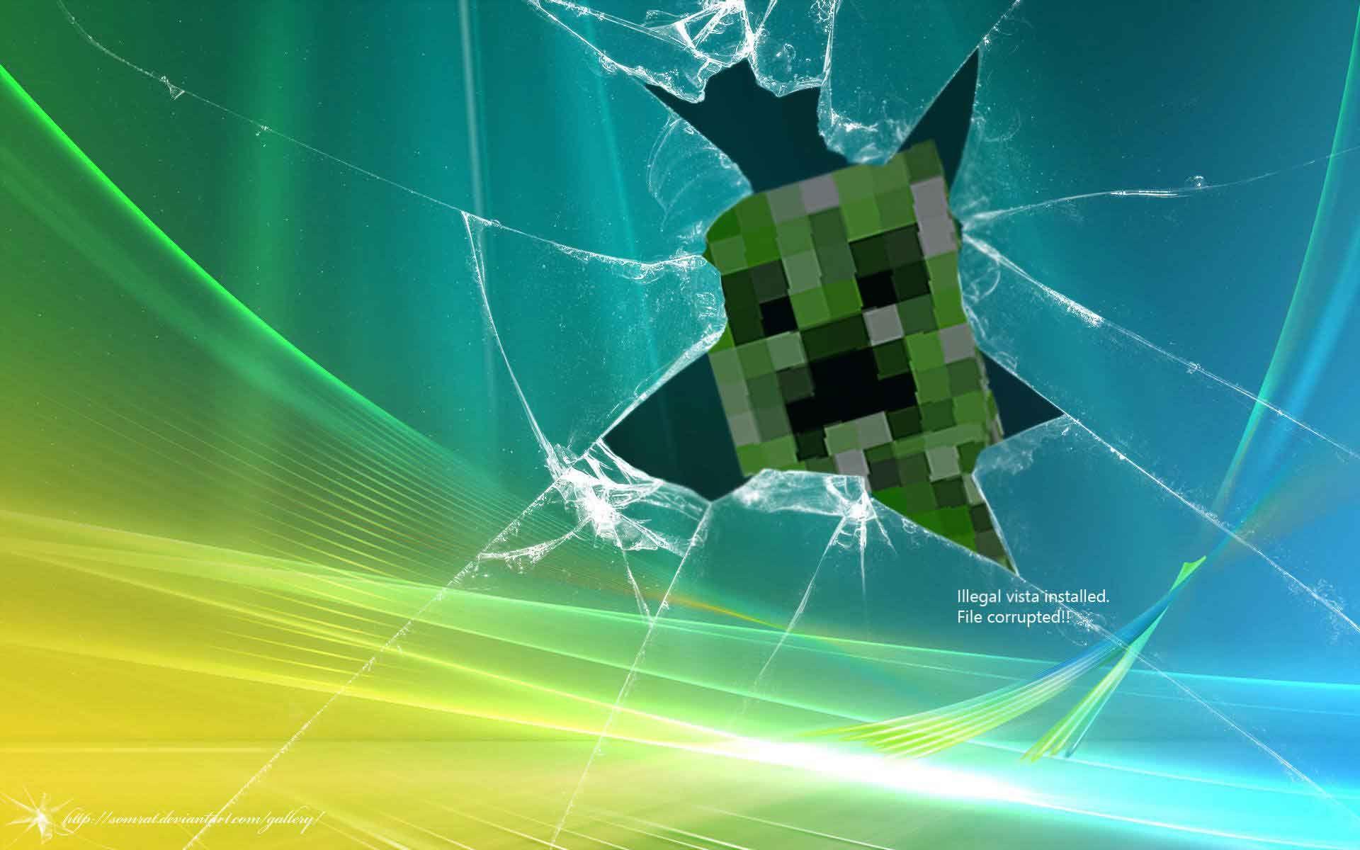 Images Of Minecraft Creepers Google Search Broken Screen Wallpaper Computer Screen Wallpaper Computer Wallpaper