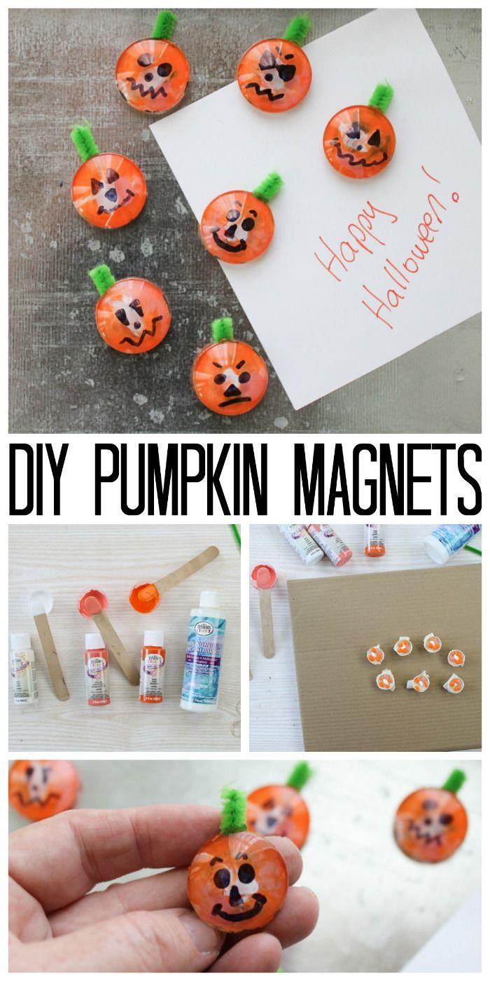 Easy Halloween Crafts For Kids Pumpkin Magnets Your Best Diy