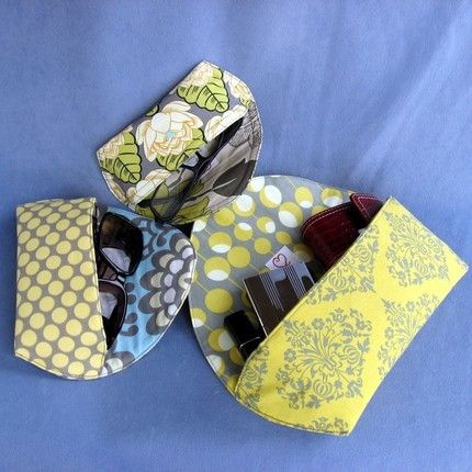 Sunglass Case & Clutch (with invisible magnetic closure)