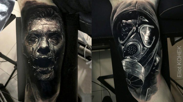 a973b36f9 The Three-Dimensional Black and Grey Tattoos of Eliot Kohek To say French  tattoo artist